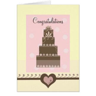 Enhorabuena del boda tarjeta de felicitación