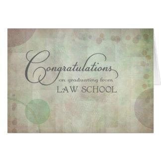 Enhorabuena del colegio de abogados tarjeta de felicitación