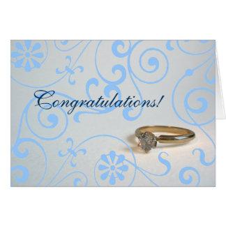 Enhorabuena del compromiso tarjeta de felicitación