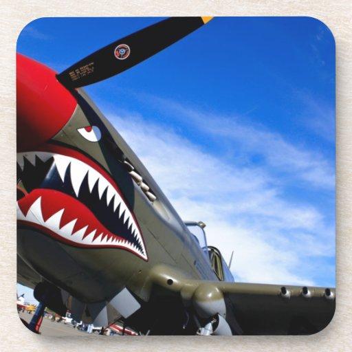 Enhorabuena del destino del piloto de los aviones  posavasos de bebidas