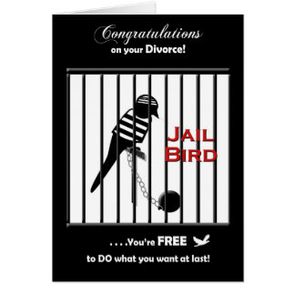 Enhorabuena del divorcio tarjeta de felicitación