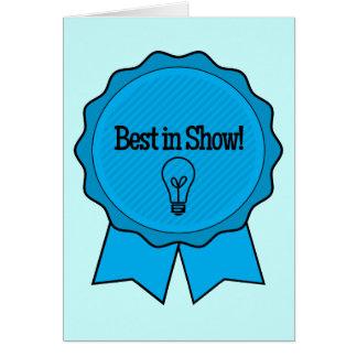 Enhorabuena del ganador de la feria de ciencia tarjeta de felicitación