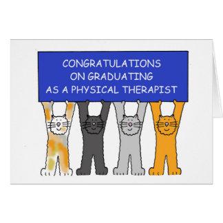 Enhorabuena del graduado del terapeuta físico tarjeta de felicitación