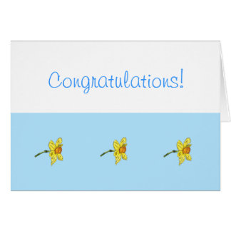 Enhorabuena del narciso (narciso) tarjeta de felicitación