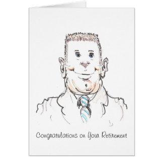 Enhorabuena del papá en su tarjeta del retiro