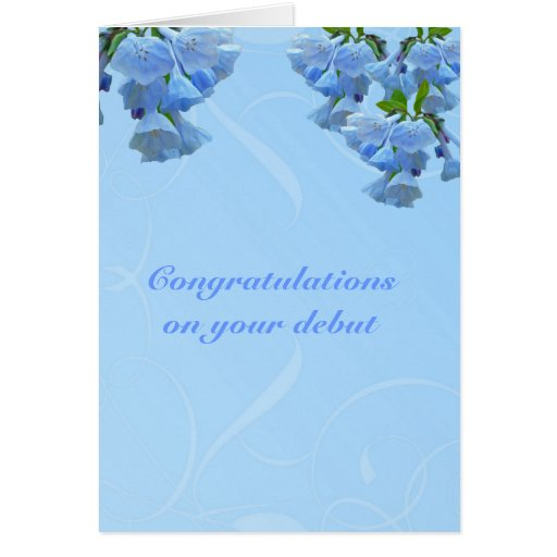 Enhorabuena del principio de los Bluebells de Virg Tarjetón