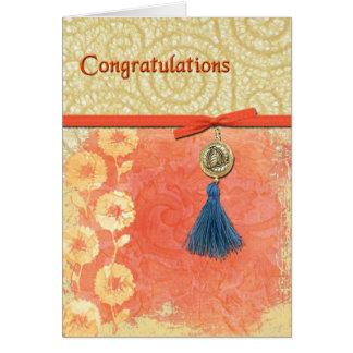 Enhorabuena del remolino del cordón felicitaciones