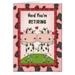 Enhorabuena del retiro - vacas tarjeton