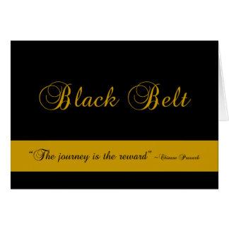 Enhorabuena del viaje de la correa negra de los tarjeta pequeña
