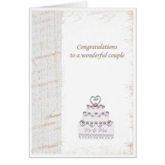 enhorabuena del weeding tarjetas