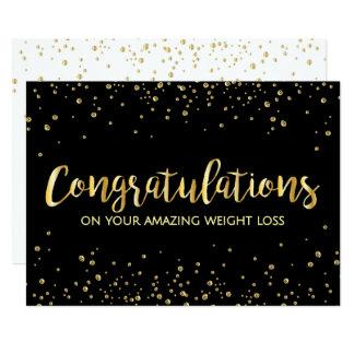 """Enhorabuena delgada de la pérdida de peso de la invitación 5"""" x 7"""""""