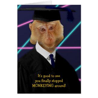 Enhorabuena divertida del Macaque del mono de la Tarjeta De Felicitación