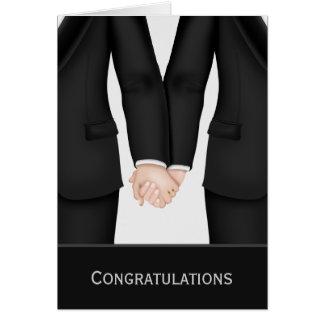 Enhorabuena dos novios en casarse de los juegos felicitación