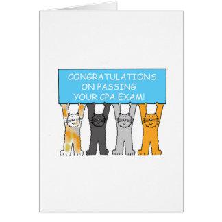 Enhorabuena en aprobar el examen de CPA Tarjeta De Felicitación