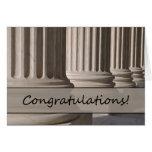 Enhorabuena en aprobar el examen de la prueba de l felicitación