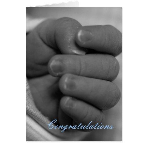 Enhorabuena en bebé tarjeta de felicitación