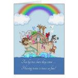 Enhorabuena en contar con a los gemelos - la arca  felicitación