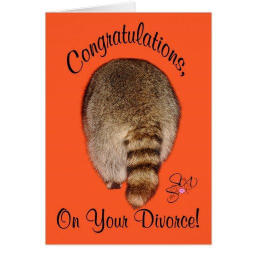 Enhorabuena en divorcio tarjeta de felicitación