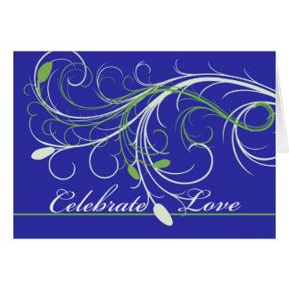 Enhorabuena en el compromiso, diseño elegante tarjeta de felicitación