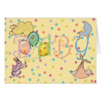 Enhorabuena en el nacimiento de su nuevo bebé tarjeta de felicitación