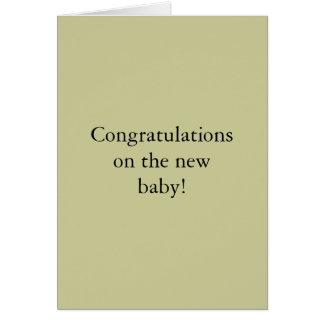 ¡Enhorabuena en el nuevo bebé! Tarjeta De Felicitación