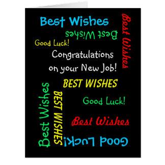 Enhorabuena en el nuevo trabajo, todos nosotros, tarjeta de felicitación grande
