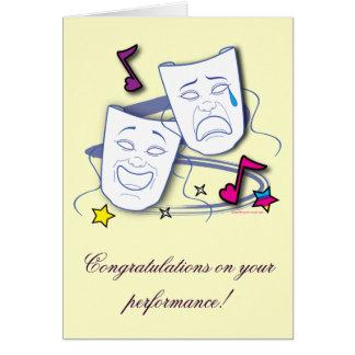 Enhorabuena en funcionamiento de la estrella del tarjeta de felicitación