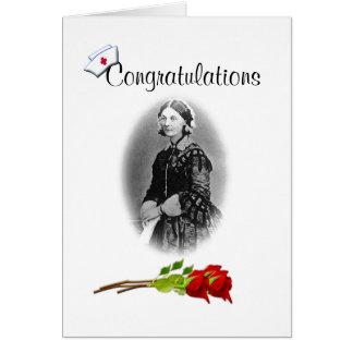 Enhorabuena en Grado-Humor del oficio de enfermera Tarjeta De Felicitación