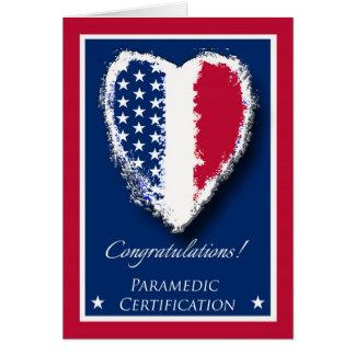 Enhorabuena en la certificación del paramédico tarjeta de felicitación