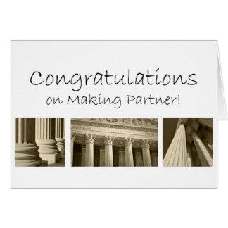 Enhorabuena en la fabricación del socio que se con tarjeta de felicitación