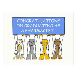 Enhorabuena en la graduación como farmacéutico postales