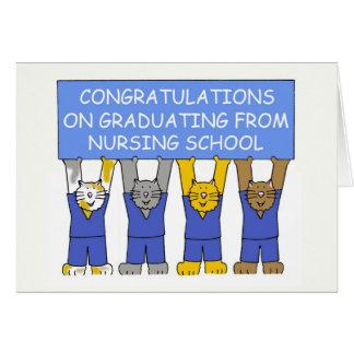Enhorabuena en la graduación de escuela de oficio tarjeta de felicitación