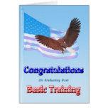 Enhorabuena en la graduación de formación básica tarjeton