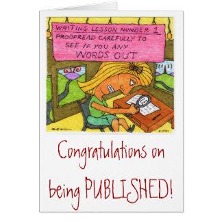 ¡Enhorabuena en la publicación! Tarjeta De Felicitación