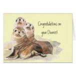 Enhorabuena en los sellos del divorcio de la aprob tarjeta