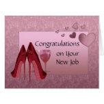 Enhorabuena en nueva tarjeta de felicitación del