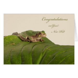 Enhorabuena en nuevo hogar, apartamento, o tarjeta de felicitación