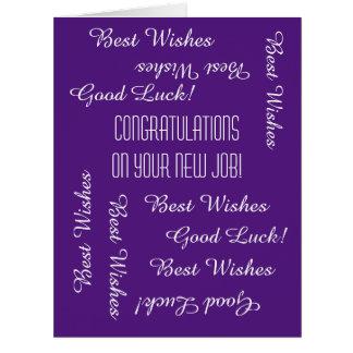 Enhorabuena en nuevo trabajo todos nosotros, tarjeta de felicitación grande