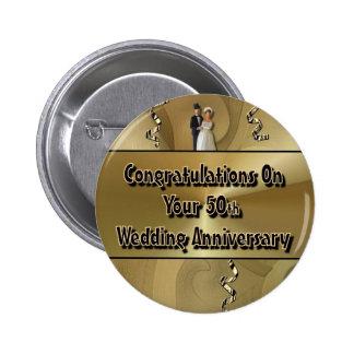 Enhorabuena en su 50.o aniversario de boda pin