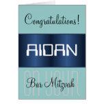 Enhorabuena en su barra Mitzvah Felicitación
