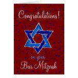Enhorabuena en su barra Mitzvah Tarjetón
