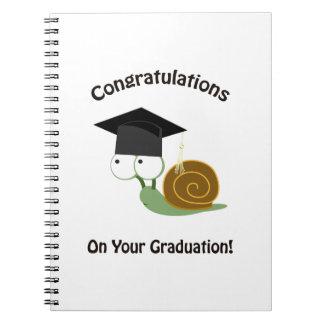 Enhorabuena en su caracol de la graduación spiral notebooks
