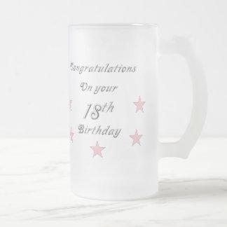 Enhorabuena en su décimo octava taza del cumpleaño