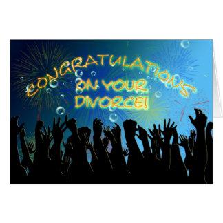 Enhorabuena en su divorcio tarjeta