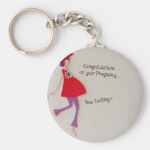 ¡enhorabuena en su embarazo! llavero redondo tipo pin