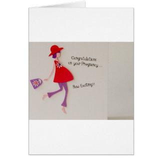 ¡enhorabuena en su embarazo! tarjeta de felicitación