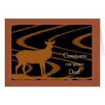 Enhorabuena en su gama, tarjeta de la caza de los