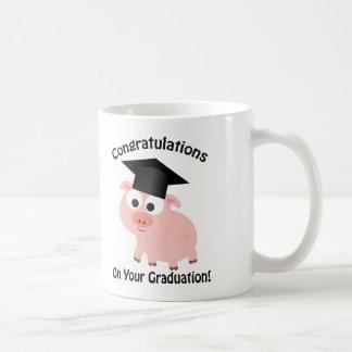 ¡Enhorabuena en su graduación! Cerdo Taza De Café