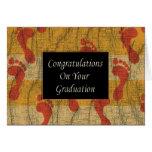 Enhorabuena en su graduación tarjeta de felicitación