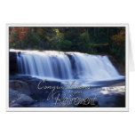 Enhorabuena en su imagen de la cascada del retiro felicitacion